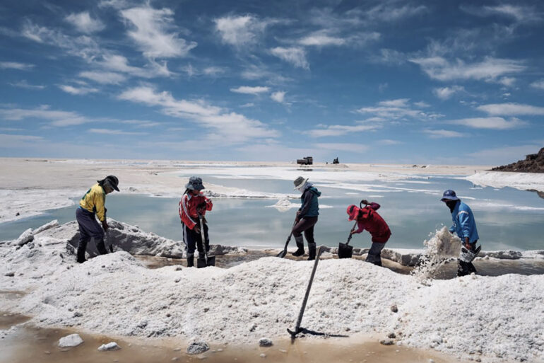 Operai boliviani - Salar de Uyuni